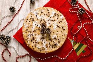 kerst taart versierd foto