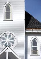 kerkdetail met geometrische patronen foto