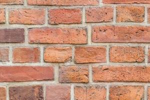 achtergrond van rode bakstenen muur patroon textuur. foto