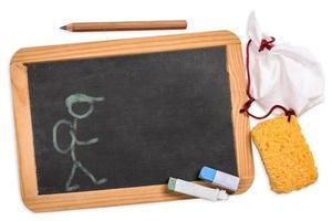 schoolbord met leerling