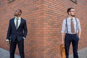 portret van een multi-etnische business team foto