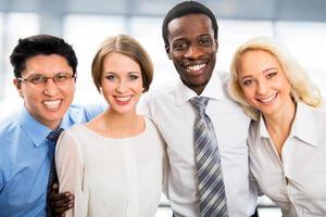 portret van zakelijke team foto