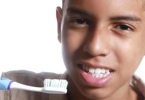 gezonde tanden mooie glimlach foto