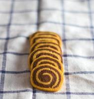 spiraalvormige koekjes foto