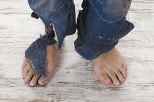 arme voeten foto