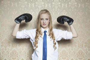 kracht en uithoudingsvermogen weg naar zakelijk succes foto