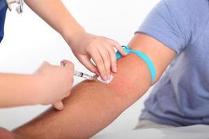 griepprik, vaccinatie foto