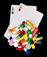 gokken met medicijnen foto