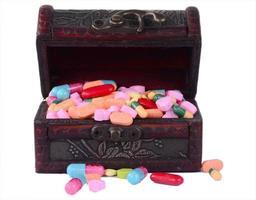 diverse pillen voor de gezondheidszorg foto