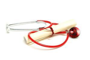 afgestudeerd in de gezondheidszorg foto