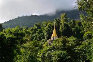 tempel in de jungle foto