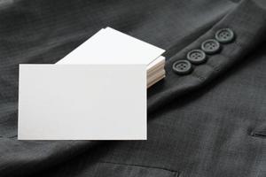 blanco huisstijl pakket visitekaartje foto