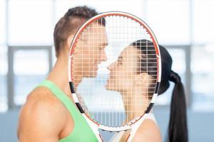 fitness paar. foto