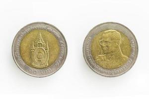 speciale munt voor 10 baht in Thailand foto
