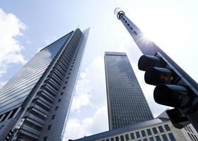bedrijfsgebouwen in perspectief foto