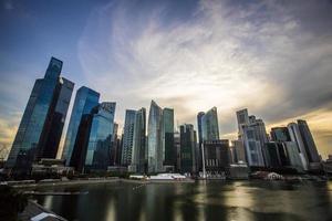 financiële wijk singapore foto