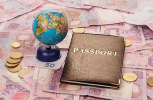 paspoort en globe foto