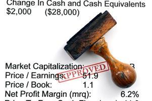 financieel verslag - goedgekeurd foto