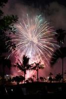 vuurwerk 's nachts foto