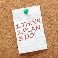 denk, plan en doe! foto