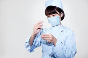 het werk van verpleegster foto