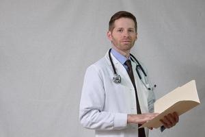 portret van arts met patiënt grafiek foto
