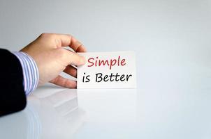 eenvoudig is beter concept foto