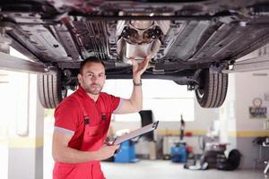 inspectie van auto foto