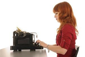 vrouw op kantoor foto