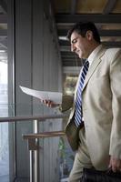 zakenman voorbereiding foto