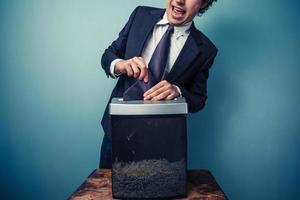 onhandige zakenman foto