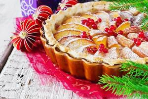traditionele kerst appeltaart foto