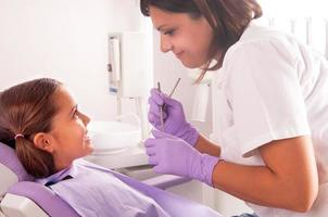 tandarts en patiënt foto