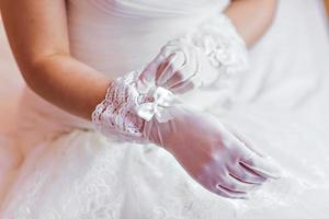 bruiloft handschoenen foto