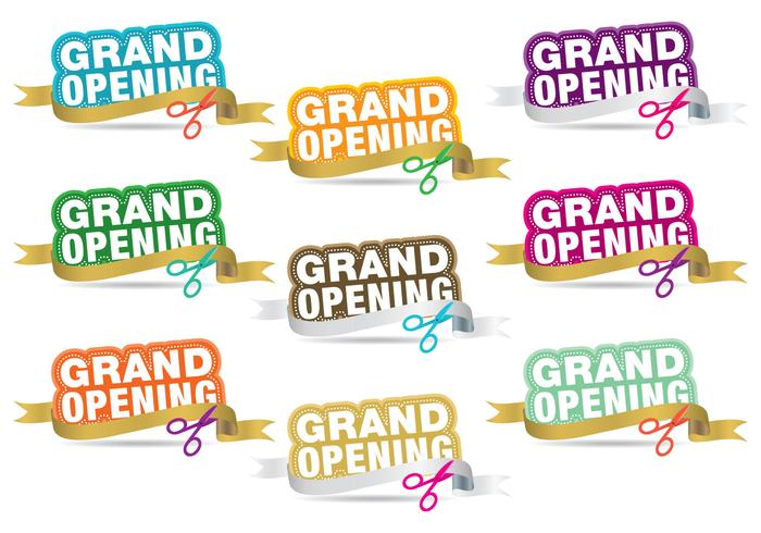 Grand Opening Titels vector