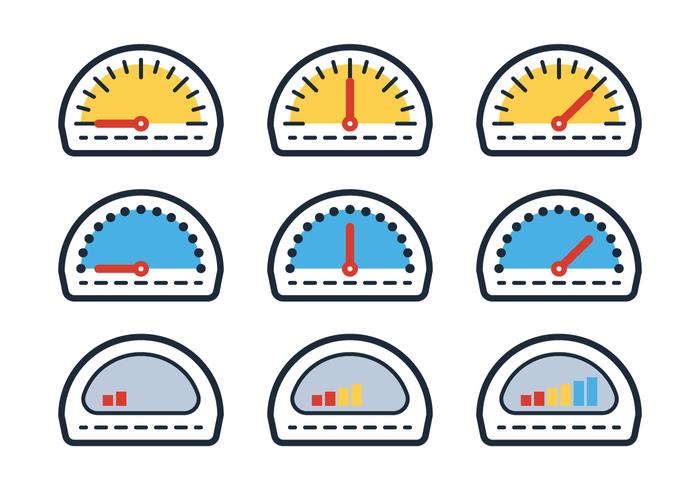 Overzicht brandstofmeter vector