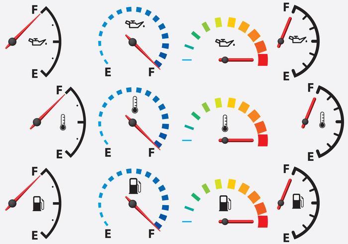Kleurrijke meters vector