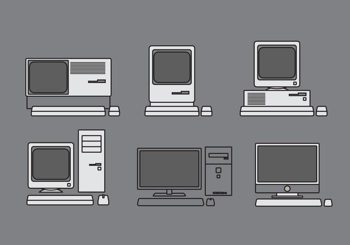Vector Computer Illustratie Set