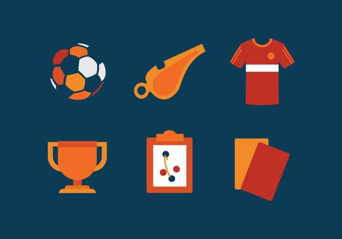 Vector futsal pictogram set
