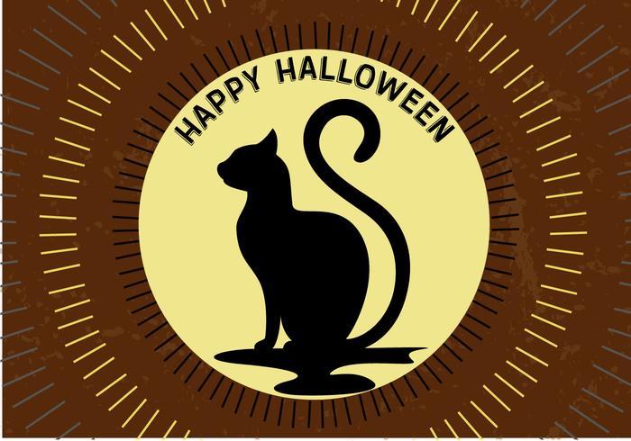 Gratis Halloween Moon Cat vector