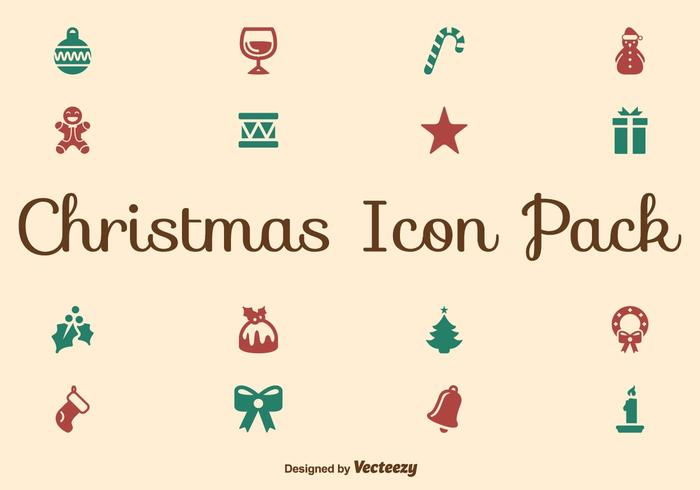 Kerstpictogram set vector