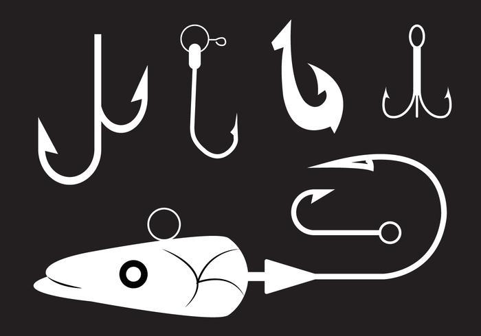 Verzameling van Vissershaken in Vector