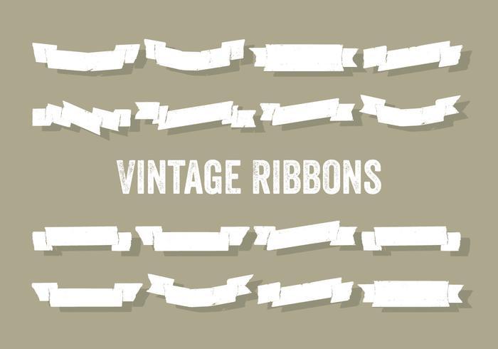 Gratis Set Vintage Linten Vector Achtergrond