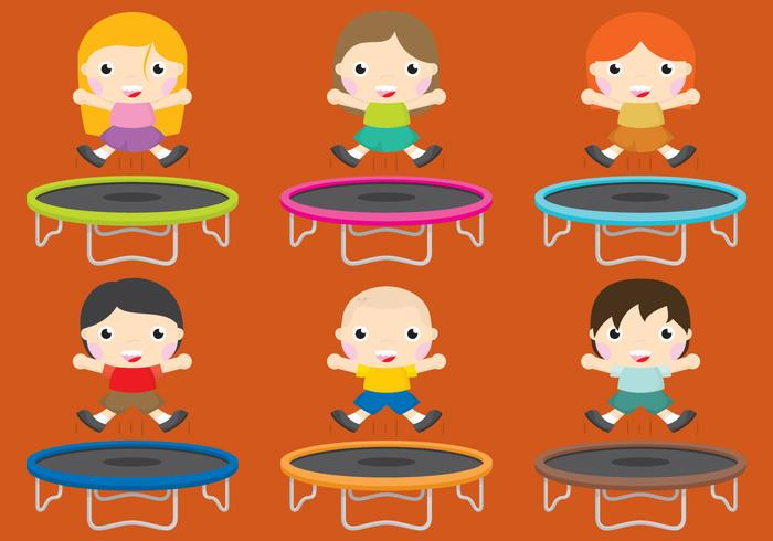 trampolines vector