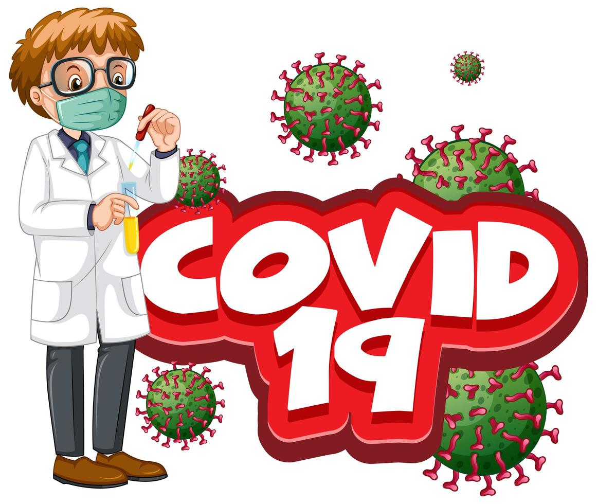 covid 19 mannelijke arts vector