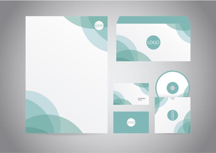 Abstracte Turquoise Briefhoofd vector