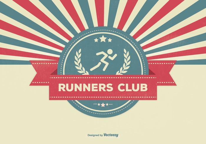 Retro Style Runners Club Illustratie vector