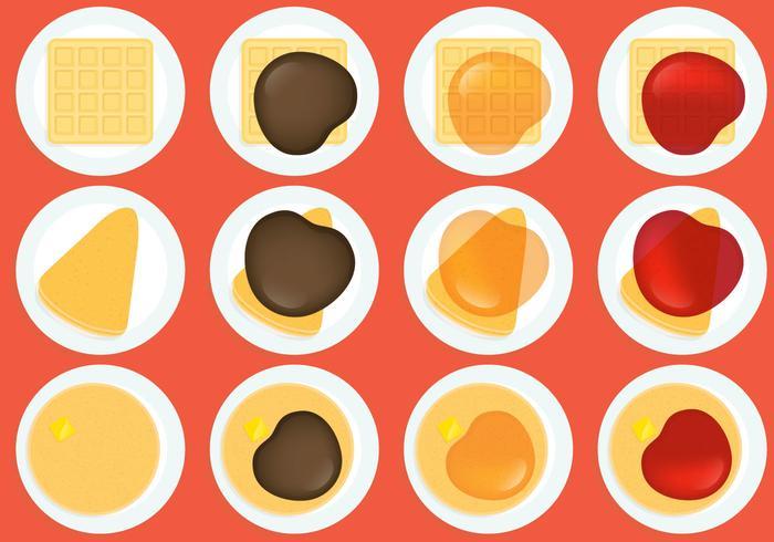 Crepes Wafels En Pannenkoeken vector