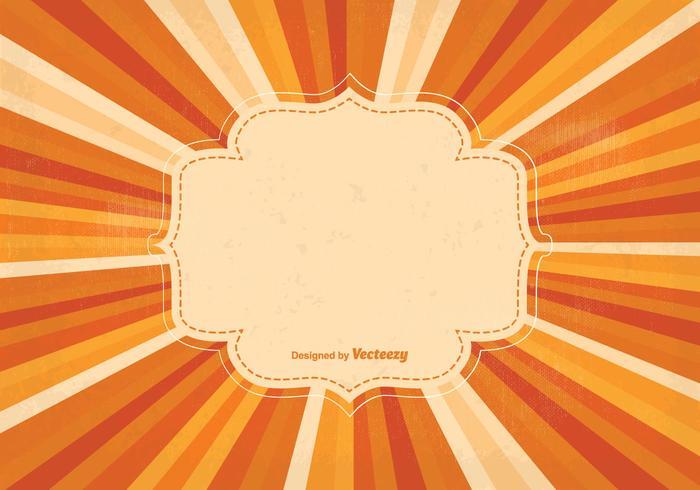 Lege Retro Sunburst Achtergrond Illustratie vector