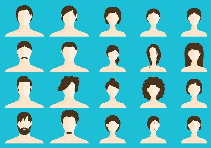 Vrouwen En Mannen Coiffures vector